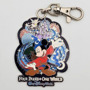 Disney Four Parks One World Mickey Lanyard Medal